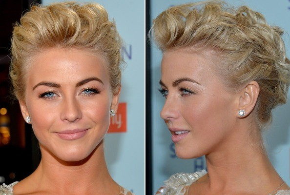 Julianne Hough's Rose Gold Eyeshadow & Mesmerizing Updo