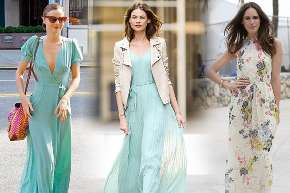 The Prettiest Celebrity Maxi-Dresses - StyleBistro
