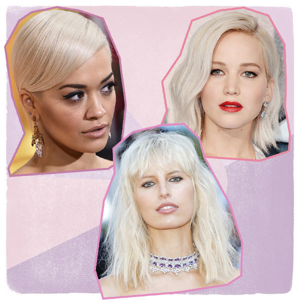 The Prettiest Celebrity Platinum Blonde Hairstyles