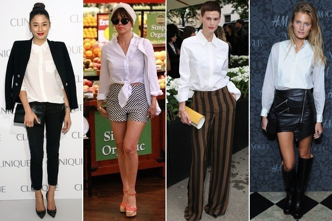 10 Totally Different Ways to Wear a Plain White Button ...