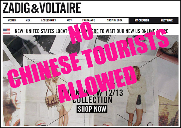 Zadig & Voltaire Plans to Open a Hotel in 2014, Pre-Emptively Bans Chinese Tourists