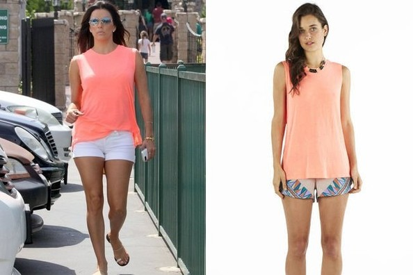 Found: Eva Longoria's Neon Top
