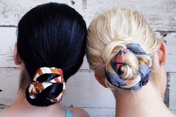 This Scarf Wrap Bun is Your New Go-To Summer 'Do