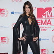 Stunning Photo of Isabeli Fontana in a Skintight Studded Jumpsuit at the MTV EMAs