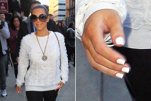 Kim Kardashian Wears Winter White