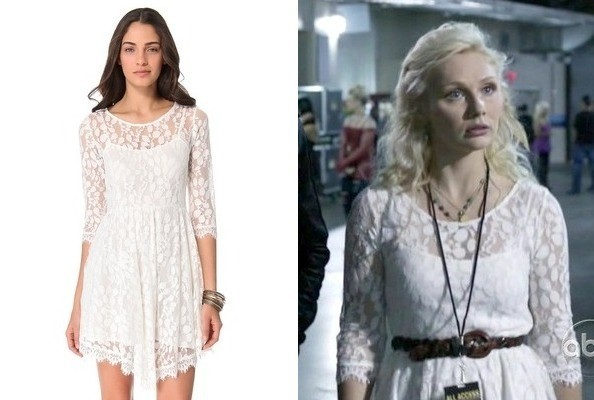Clare Bowen's Lace Dress on 'Nashville'