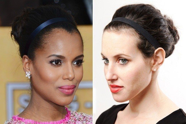 Get the Look: Kerry Washington's Banded Updo