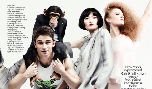 Stylish Monkey Suits Up in Armani for Carine Roitfeld
