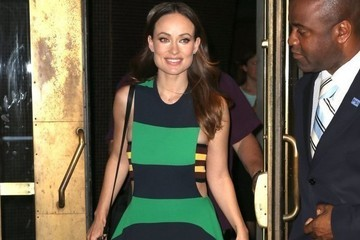 Olivia Wilde's Striped Maxi Dress