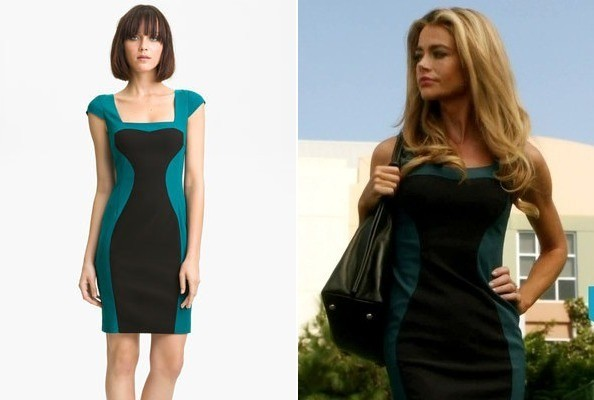 Denise Richards' Colorblock Dress on '90210'