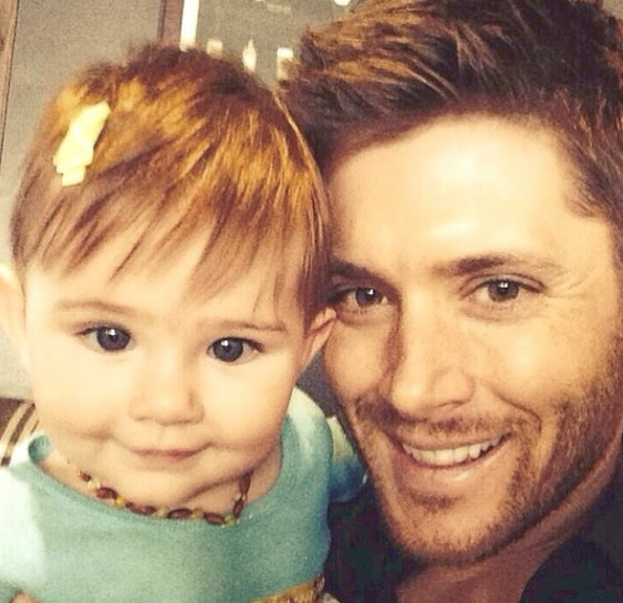 Jensen Ackles and daughter Justice - The Cutest Dads and ...