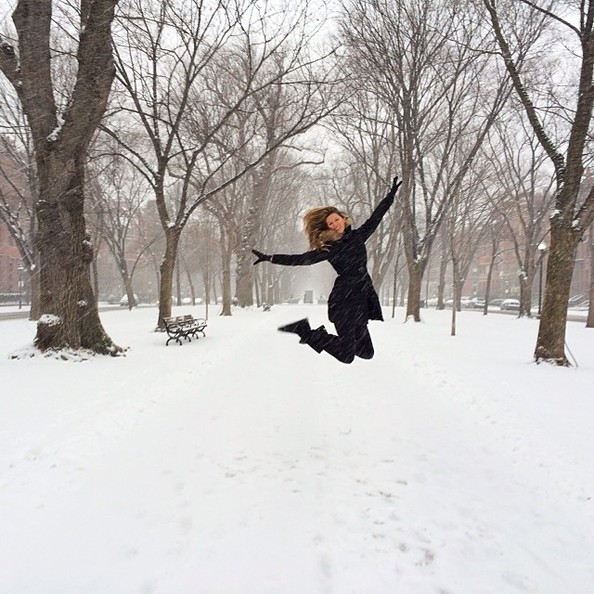 Gisele Played in a Winter Wonderland