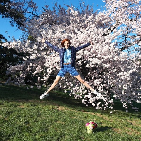 Taylor Tomasi Hill Jumps for Spring