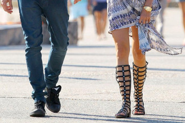 What to Wear: With Tall Gladiator Sandals