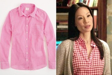 Lucy Liu's Gingham Top on 'Elementary'