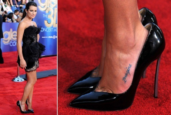Presented Without Comment - Lea Michele Likes Her Shoes Big
