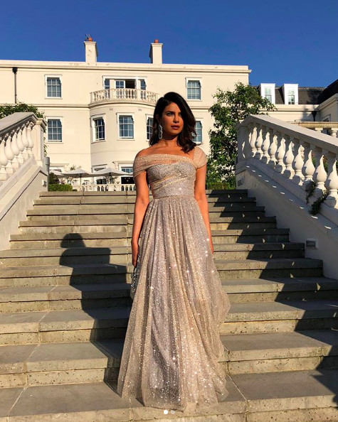 Priyanka Chopra at the Reception in Dior