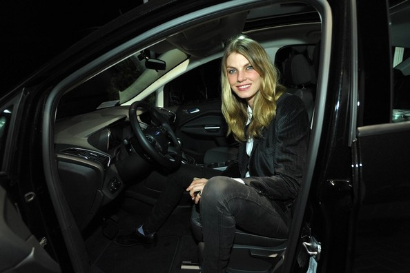 Angela Lindvall at the Stella McCartney LA Holiday Party