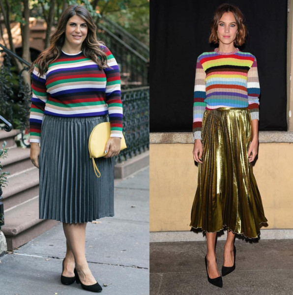 Alexa Chung's Mix And Match Outfit
