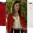 Rachel Bilson's Red Jacket and Tie-Neck Blouse on 'Hart of Dixie'