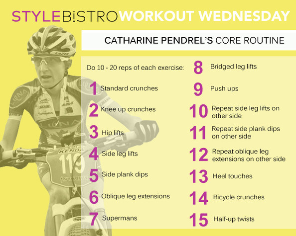 Workout Wednesday: Catharine Pendrel's Around the World Core Routine