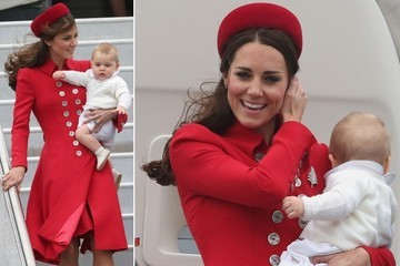 Kate Middleton Kicks Off Royal Tour In Red