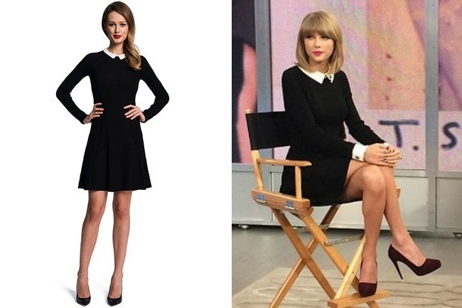 Taylor Swifts Black Dress With White Collar And Cuffs On Good
