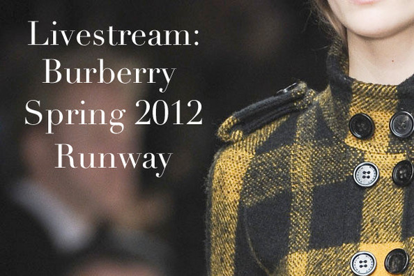 Live From London Fashion Week: Burberry Spring 2012