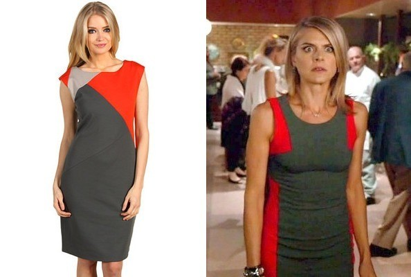 Eliza Coupe's Color-Block Dress on 'Happy Endings'