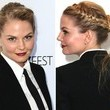 Jennifer Morrison's French Braid + Wrapped Ponytail