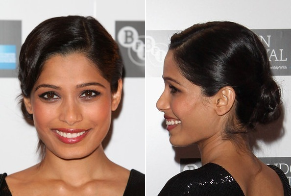 Freida Pinto's Modernized Finger Wave