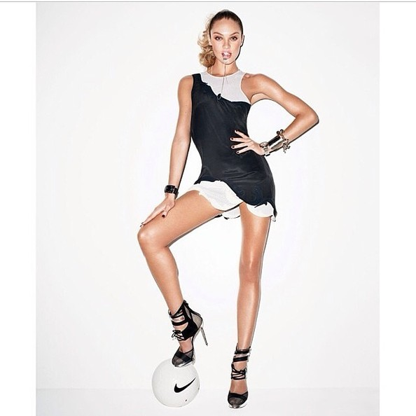 Candice Swanepoel Is All About the World Cup