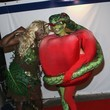 Heidi Klum and Seal as Eve and the Forbidden Fruit