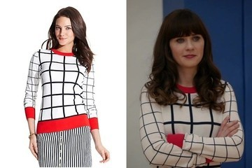 Zooey Deschanel's Checkered Sweater on 'New Girl'