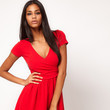 A Flippy Red Wrap Dress