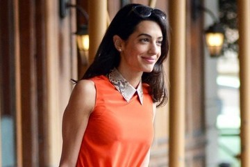 Look of the Day: Amal Clooney's Pop of Python