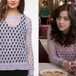 Katie Findlay's Hole-y Purple Sweater on 'The Carrie Diaries'