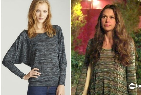Sutton Foster's Space Dye Sweater on 'Bunheads'