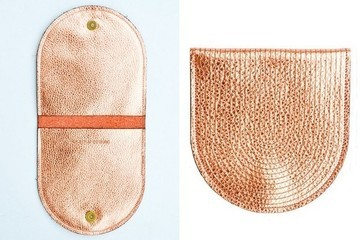 Yes Please: Leif Metallic Leather Pouch