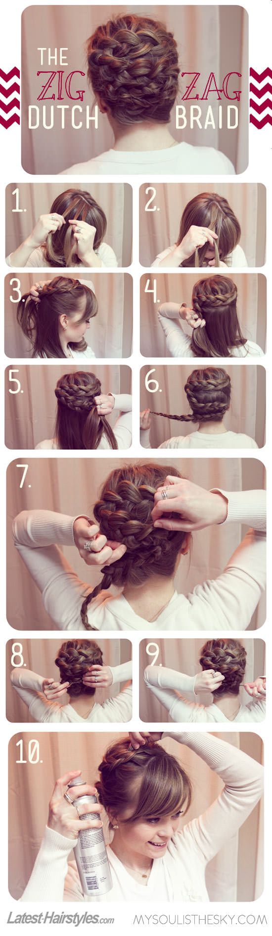 Up Your Braid Game With This Zig-Zag 'Do