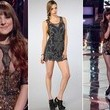 Juliet Simms's Metallic Mini Dress on 'The Voice'