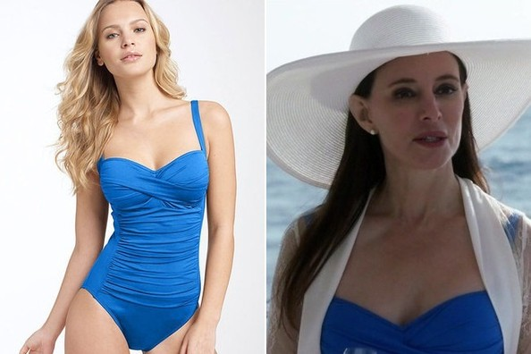 Madeleine Stowe's Blue One-Piece Suit on 'Revenge'