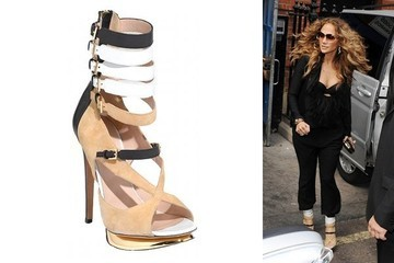 Buckle up: Jennifer Lopez in Nicholas Kirkwood Sandals