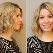 After: The beachy, tousled Meg Ryan-inspired bob