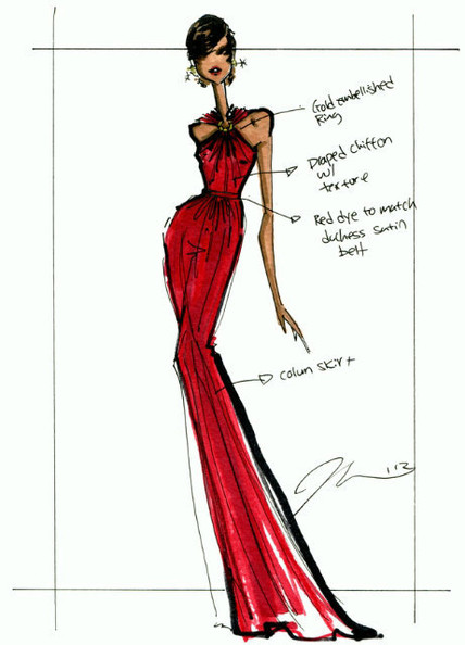 UNVEILED: Jason Wu's Sketch of Michelle Obama's 2013 Inaugural Gown