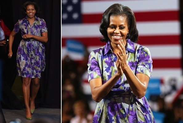 Michelle Obama in Moschino