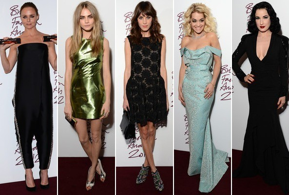 Best & Worst Dressed - British Fashion Awards 2012