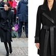 The Look: Black Belted Coat ($199)