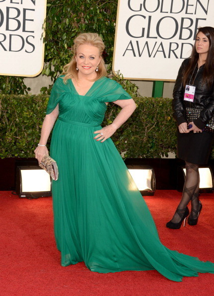 Jacki Weaver Wears Pamella Roland at the 2013 Golden Globes