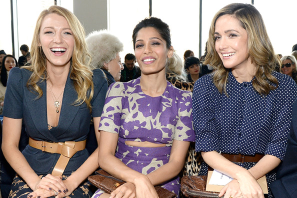 Front Row Celebs at New York Fashion Week